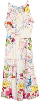Gabby Skye Floral Halter Neck Dress