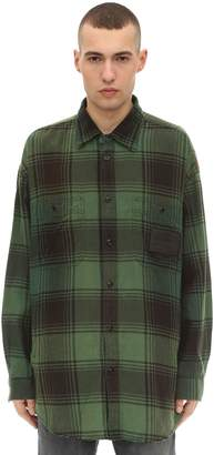 Diesel Long Check Cotton Workwear Shirt Jacket