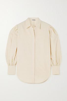 AVAVAV Striped Cotton-poplin Shirt - Neutral