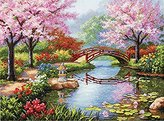 "Dimensions Japanese Garden"" Gold Counted Cross Stitch Kit, Multi-Colour"