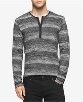 Calvin Klein Men's Marled Stripe Henley Sweater