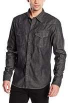 Lee Men's Western Slim Fit Long Sleeve Casual Shirt,Large