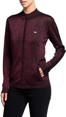 Bella Freud Queen Midas Zip-Up Metallic Jacket