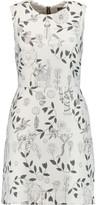 Markus Lupfer Metallic jacquard mini dress