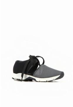 All Black Women's Solid Mesh Sneaker Women's Shoes