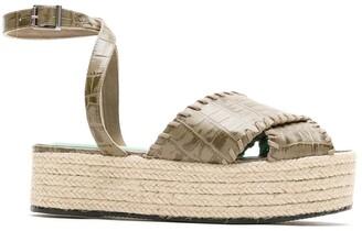 Blue Bird Shoes Cruzada crocodile effect espadrilles