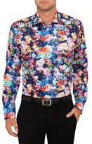 Eton Watercolour Floral Print Slim Fit Shirt