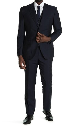 Reiss Washington Single Button Peak Lapel 3-Piece Suit