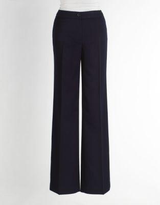 Anne Klein High-Waist Wide-Leg Pants