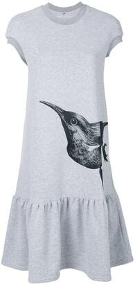Ioana Ciolacu bird print T-shirt dress