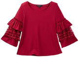 My Michelle mymichelle Tiered Ruffle Sleeve Top (Big Girls)