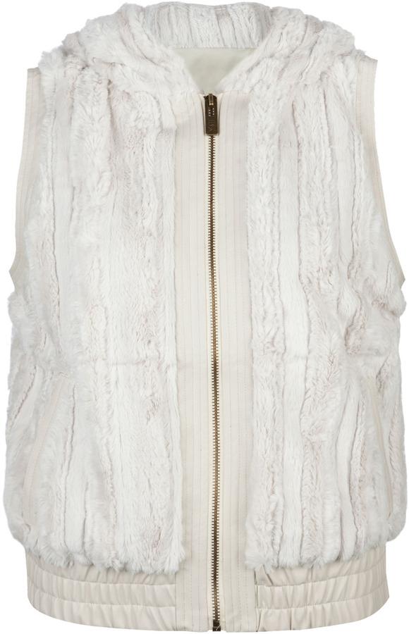 YMI Jeanswear Faux Fur Womens Hooded Vest