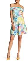 Spense 28505 Vibrant Off-Shoulder A-Line Dress