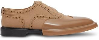Burberry Toe Cap Detail Wool Oxford Brogues