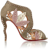Christian Louboutin Women's Venecage Suede & Leather Ankle Booties-Grey, Pink, Gold, Silver, Dark green