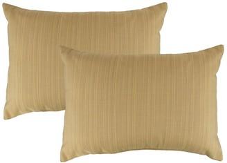 Austin Horn Classics Sunbrella Dupione Cornsilk Boudoir Outdoor Throw Pillows