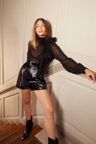 Womens Whatever the Faux Leather High-Waisted Shorts - black - 10