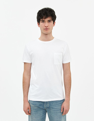 Levi's Men's Pocket T-Shirt in White, Size Small | 100% Cotton