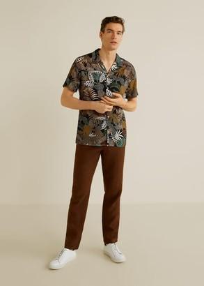 MANGO Hawaiian flowy shirt