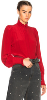 Isabel Marant Sloan Blouse in Red.
