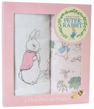 Peter Rabbit Hop Little Rabbit 2 Pack Flannel Wraps