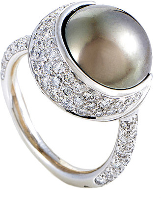 Heritage Chanel Chanel 18K White Gold 0.75 Ct. Tw. Diamond & Pearl Ring