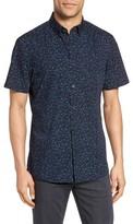 Nordstrom Men's Slim Fit Dot Print Sport Shirt