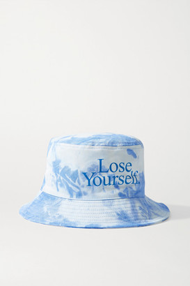 Paco Rabanne + Peter Saville Printed Tie-dyed Cotton-canvas Bucket Hat - Blue