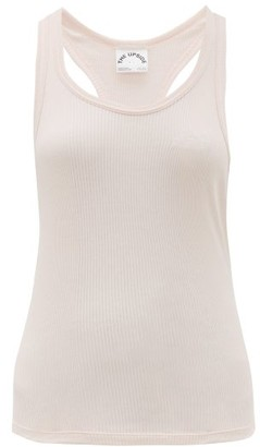 The Upside Logo-embroidered Ribbed Cotton Tank Top - Womens - Pink