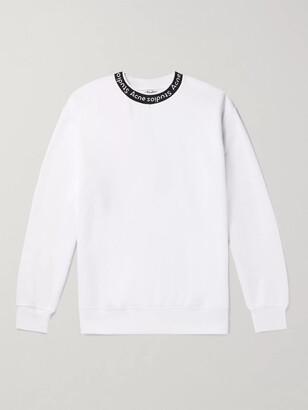 Acne Studios Oversized Logo-Jacquard Fleece-Back Jersey Sweatshirt