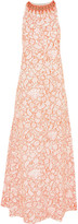 Tory Burch Edna bead-embellished embroidered tulle gown