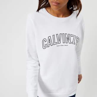 Calvin Klein Women's Core Fit Crew Neck Sweatshirt
