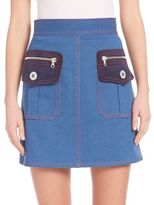 Marc Jacobs Patch Pocket Denim Mini