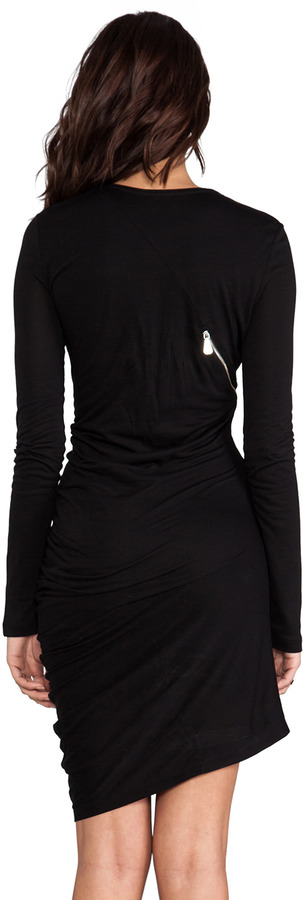 McQ Zip Off Long Sleeve Dress