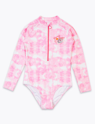 Marks and Spencer Tie Dye Long Sleeve Swimsuit (6-16 Yrs)