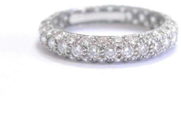 Tiffany & Co. Platinum Row Diamond Band Ring