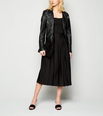 New Look NA-KD Pleated Strappy Midi Dress