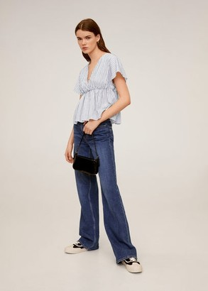 MANGO Ruffle cotton blouse white - 2 - Women