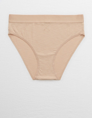 aerie Ribbed High Waisted Bikini Underwear