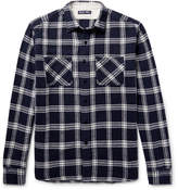 Alex Mill Checked Brushed-cotton Flannel Shirt - Midnight blue