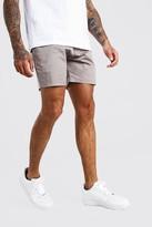 boohoo Mens Grey Slim Fit Chino Short, Grey