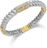 Charter Club Two-Tone Crystal Pavé Twist Stretch Bracelet