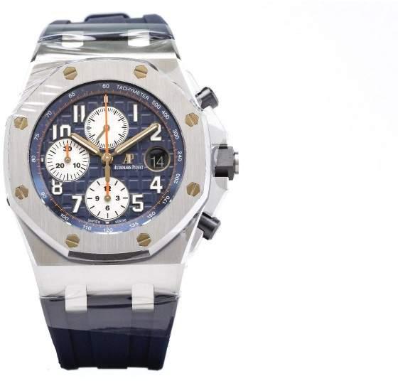 Audemars Piguet Royal Oak Offshore Navy 26470ST.OO.A027CA.01 Stainless Steel Blue Chronograph 42mm Watch