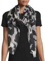 Diane von Furstenberg Vault Kenley Vintage Leopard Cashmere Scarf