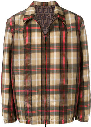 Fendi lightweight checked jacket