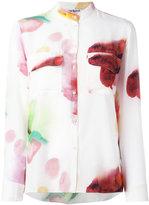 Cacharel blurry print shirt