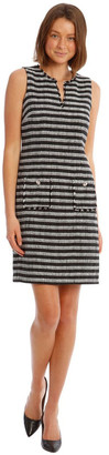 Karl Lagerfeld Paris Stripe Tweed Sheath