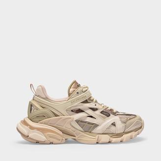 Balenciaga Track.2 Open Sneaker In Nude Fabric