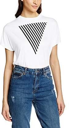 Mavi Jeans Women's Triangle Printed Top T-Shirt - Beige - UK
