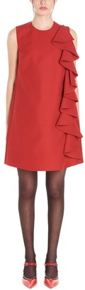 Valentino Ruffle Detail Mini Dress